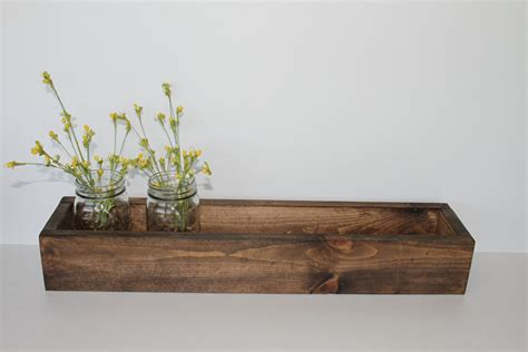 Wood For Planter Box by 24 Wood Flower Box Wood Box Rustic Planter Box