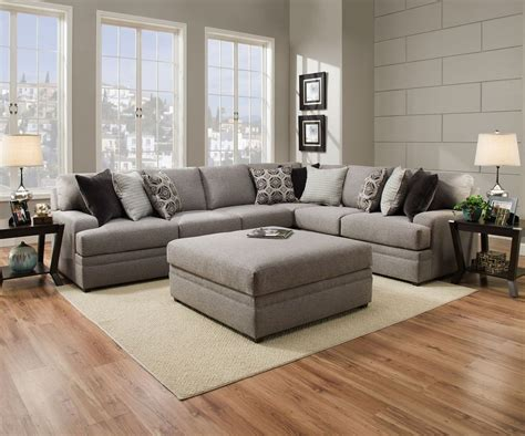 simmons sectional couch le chateau 8561 simmons beautyrest sectional sofa grey