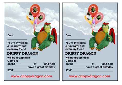 printable birthday invitations dragons free drippy dragon birthday invitations