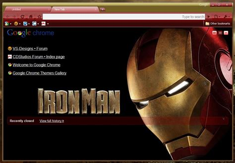 theme google chrome iron man 5 best looking super heroes themes for google chrome