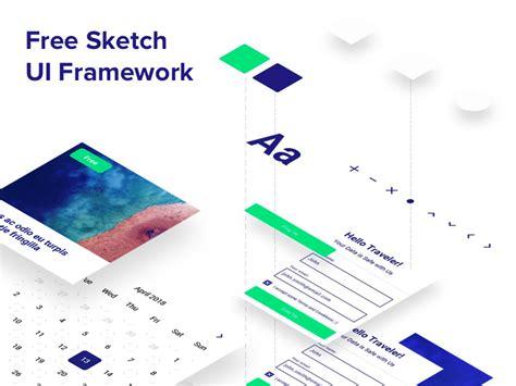 mobile web ui framework android bottom navigation sketch freebie free