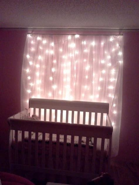 drapes for cribs snowfall christmas lights behind sheer curtains behind