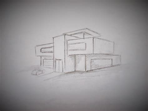 modern house drawing how to draw a modern house youtube