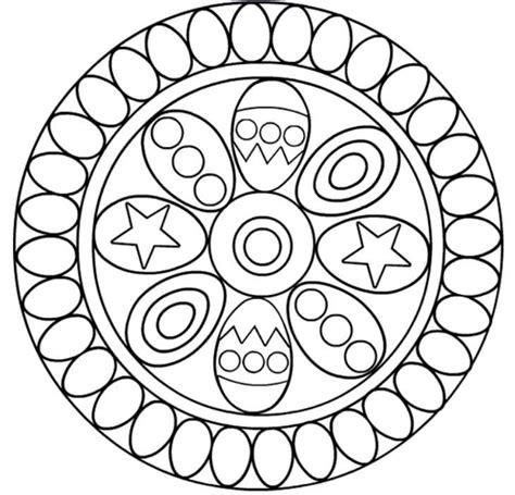 mandalas de pascuas para imprimir y colorear colorear mandala huevos pascua dibujalia dibujos para colorear