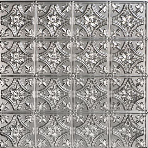 silver ceiling tiles reims 2 ft x 2 ft pvc glue up ceiling tile in silver 100 sq ft 150sr 24x24
