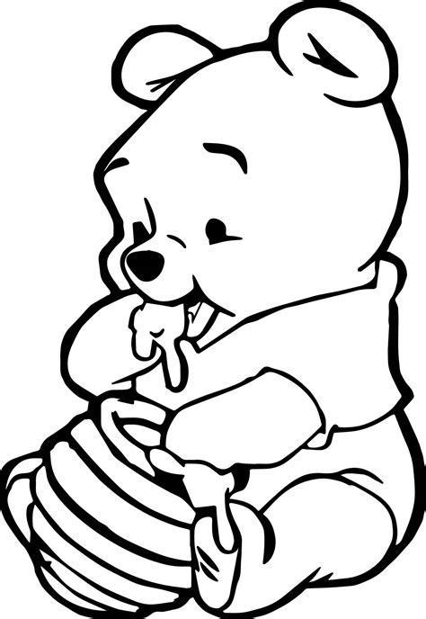 Winnie The Pooh Coloring Pages Baby Www Pixshark Com Baby Winnie The Pooh Coloring Pages