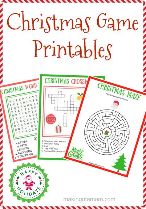 printable holiday word games free printable christmas games making of a mom