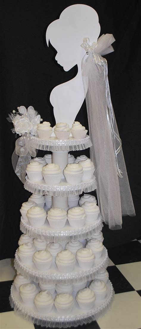wedding cupcake tower bridal shower ideas - Bridal Shower Cupcake Tower