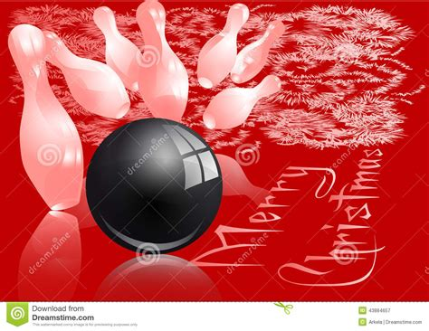 christmas bowling strike stock vector image of enjoyment