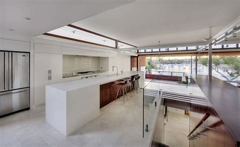 contemporary kitchens for large and gorgeous multi level family house in sydney charms with