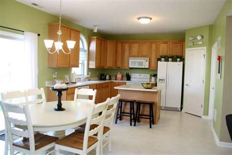matching kitchen paint colors with oak cabinets green kitchen paint colors with wooden chair