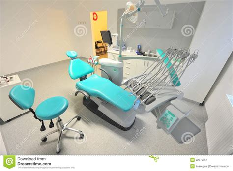 Dentist Chair by Dentist Office Reclining Chair And Utensils Stock Image