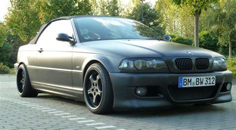 bmw 1er matt schwarz bmw e46 320ci matt schwarz 3er bmw e46 quot cabrio