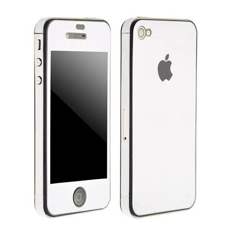 Bumper For Iphone 4gs wholesale 10pcs lot white bling glitter vinyl decal skin bumper side sticker for
