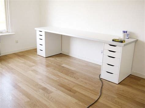 Counter Desk Drawer by Desk Did A Version Of This Using Two 4 5 Desks