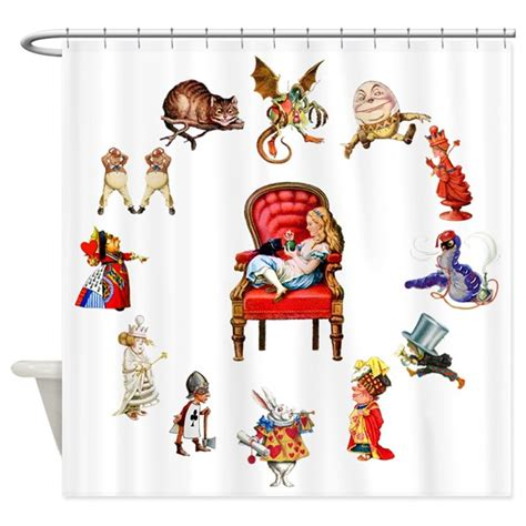 alice in wonderland curtains alice in wonderland shower curtain by rooseveltbears