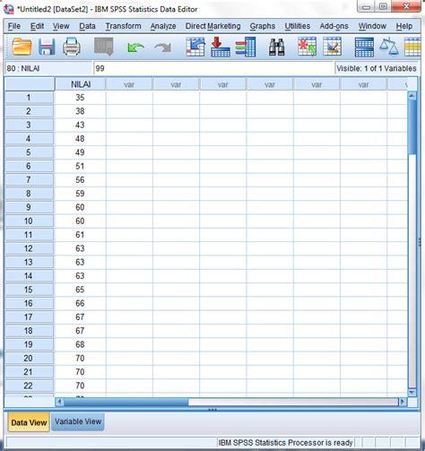 membuat tabel distribusi frekuensi spss menggunakan spss untuk data dalam tabel distribusi