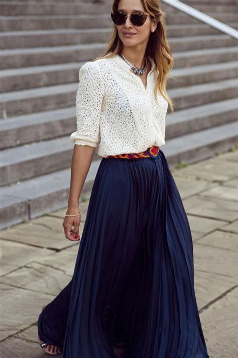 lace shirt maxi skirt streetstyle fashion