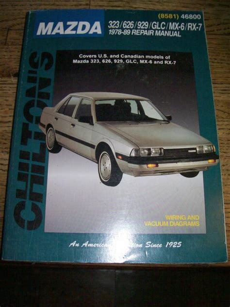chilton car manuals free download 1988 mazda 929 electronic valve timing find chilton s repair manual for mazda 323 626 929 glc mx 6 rx 7 1978 89 motorcycle in eddyville