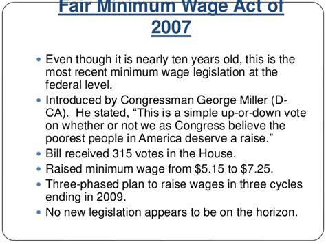 Mba Minimum Wage mba 592 presentation an analysis of the federal minimum wage