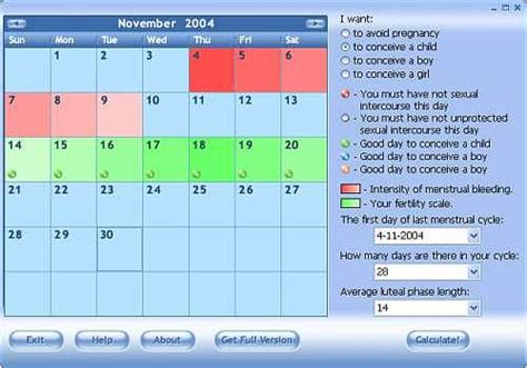 Calendrier Ovulation Gratuit T 233 L 233 Charger Ovulation Calculator Pour Windows Shareware