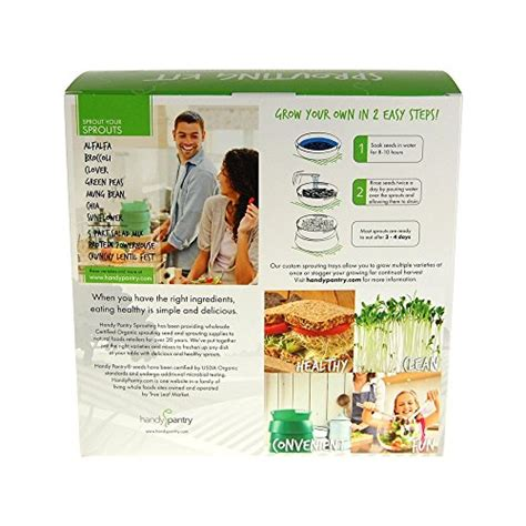 Handy Pantry Sprouting by Handy Pantry Sprout Garden 3 Tray Sprouter Sg 52 Bpa Free Stackable Sprouting System Herbs