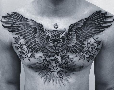 owl chest tattoo instagram instagram and owl
