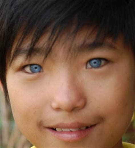 asian with colored how asians with blue green
