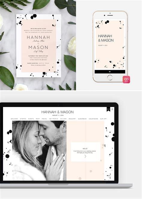 wedding website matching invitations coordinate invitations with your wedding website with