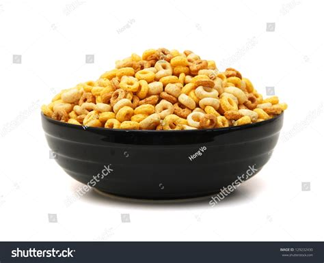 whole grains in cheerios bowl whole grain cheerios cereal on stock photo 129232430
