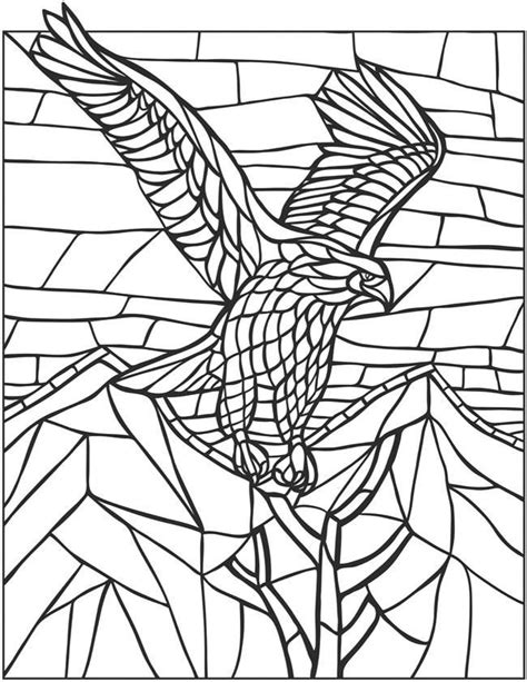 mosaic coloring books eagle mosaic coloring activity therapy coloring books
