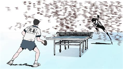 Ping Pong The Animation floating words anime review ping pong the animation