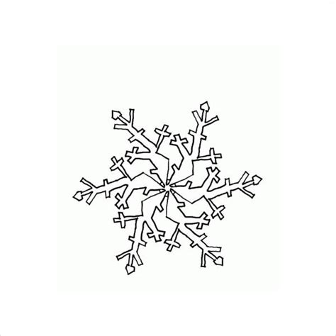 small snowflake coloring page 8 snowflake coloring pages jpg ai illustrator download