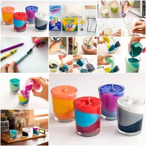 diy candle crafts how to make multi color candle step by step diy tutorial