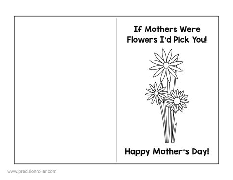 mothers day card templates to color free s day card and questionnaire precision printables