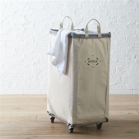 Steele ® Vertical Canvas Laundry Bin   Crate and Barrel