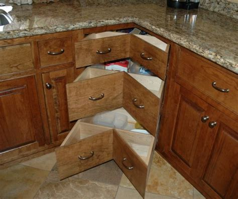 corner cabinet drawers kitchen how to build corner cabinet drawers bedsitter apartment