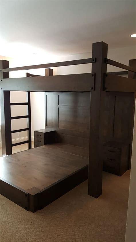 custom full xl loft bed  queen platform bed features
