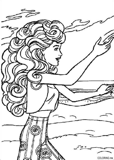 barbie beach coloring pages coloring page barbie on beach coloring me
