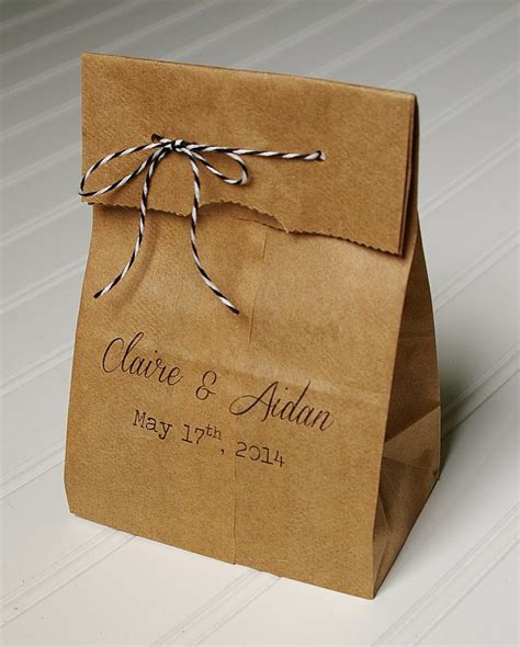 personalized wedding favor bags candy bags kraft paper