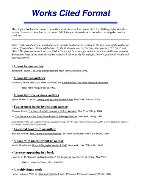 mla works cited page template mla citation for harrison bergeron