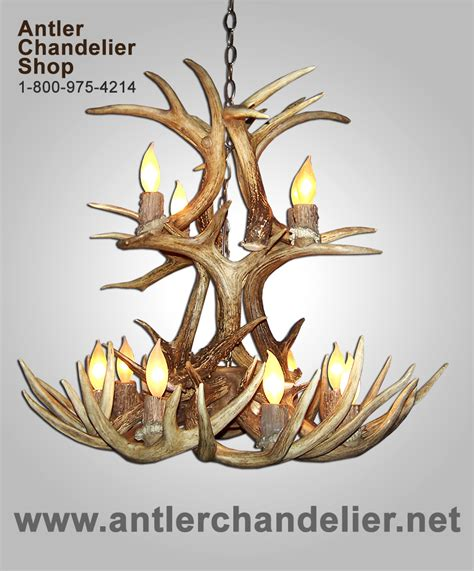 Real Antler Whitetail Cascade Deer Chandelier Lighting Antler Chandelier Shop
