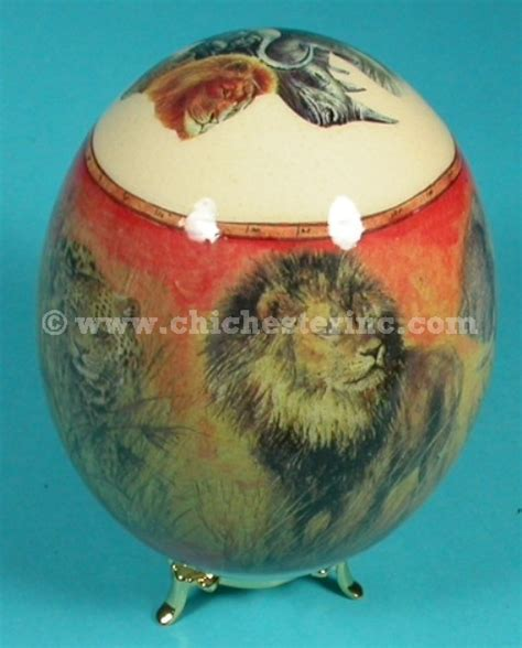 Decoupage Ostrich Eggs - ostrich eggs decoupage