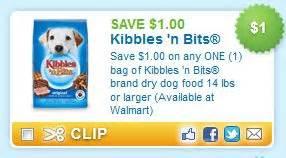 printable kibbles and bits dog food coupons kibbles n bits printable coupon