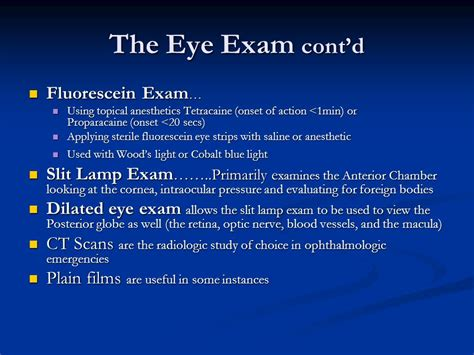 woods l eye exam y ppt video online download
