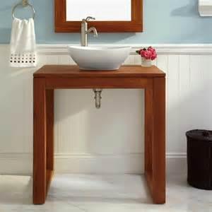 30 quot myton teak console vessel sink vanity bathroom