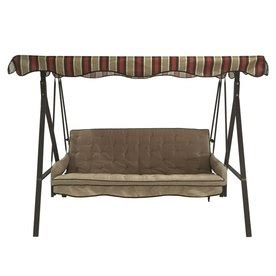Garden Treasures 3 Seat Steel Casual Porch Swing shop garden treasures 3 seat steel casual porch swing at