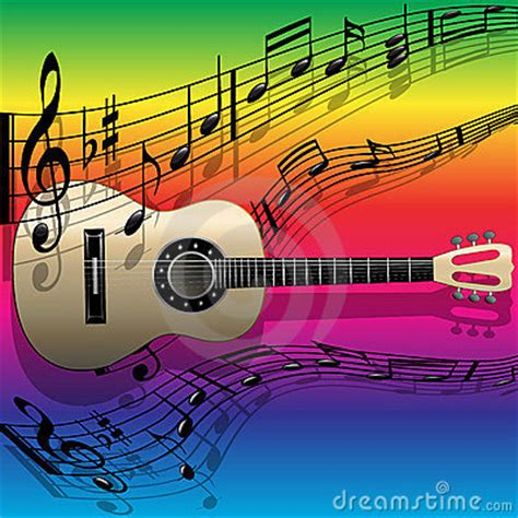 imagenes de melodias musicales guitarra melod 237 a ac 250 stica im 225 genes de archivo libres de
