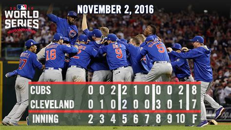 new year for cubs chicago cubs end 108 year chionship drought with world