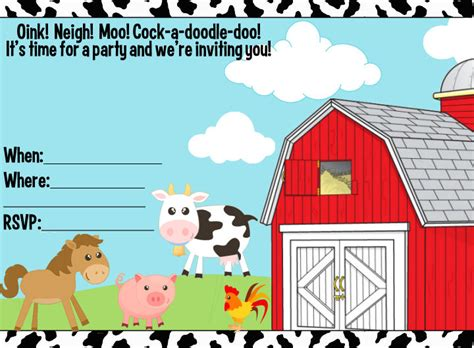 40th Birthday Ideas Birthday Invitation Templates Sparklebox Free Farm Birthday Invitation Templates
